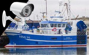 Arkivbillede af kameraovervågning af fiskefartøj