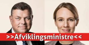 SOCIALDEMOKRATIETS »AFVIKLINGSMINISTRE« HAR TRAVLT MED AT LUKKE DANSK FISKE- OG SKALDYRS-PRODUKTION